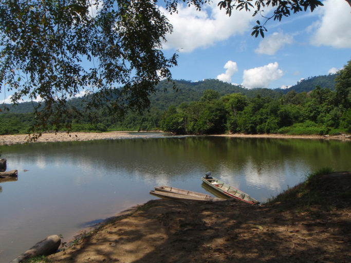 A stretch of the Baram River. Its shores would have been flooded if the Baram dam had been built. A wave of Internet and social media coverage critical of the Malaysian government's development policies was amplified by more traditional newspaper media. Photo courtesy of Bruno Manser Fonds.