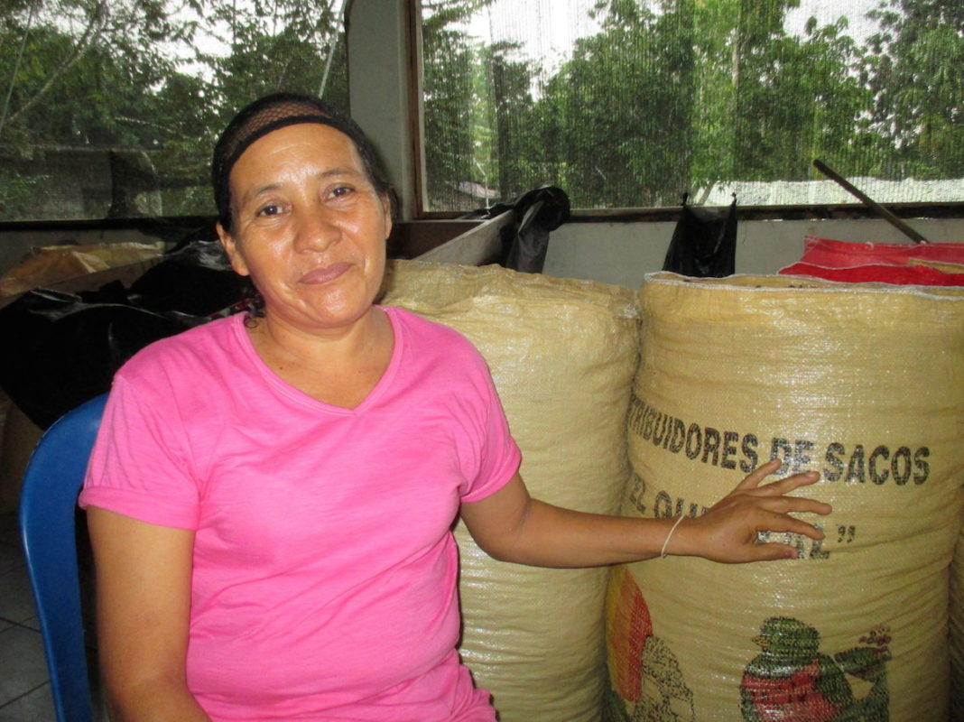 Benedicta Dionisio Ramírez is the president and co-founder of ANSA, a local enterprise led by women in Guatemala's Maya Biosphere Reserve to harvest and process edible ramón tree seeds for domestic consumption and export. Photo by Sandra Cuffe