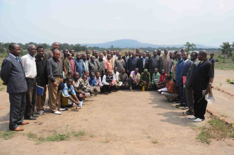 Local leaders agree to create the Kabobo Natural Reserve in 2009. Photo by Andy Plumptre/WCS