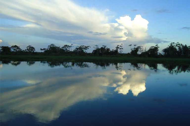 The Tapajós River, Brazil. More than forty dams would turn this free flowing river and its tributaries into a vast industrial waterway threatening the Tapajós Basin's ecosystems, wildlife, people, and even the regional and global climate. Photo by International Rivers on Flickr, licensed under an Attribution-NonCommercial-ShareAlike 2.0 Generic (CC BY-NC-SA 2.0) license