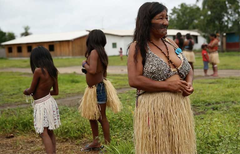 "Valmira Krixi Munduruku: ""It is a time of death. The Munduruku will start dying. They will have accidents. Even simple accidents will lead to death.… It's not chance. It's all because the government interfered with a sacred site."" Photo by Mauricio Torres"