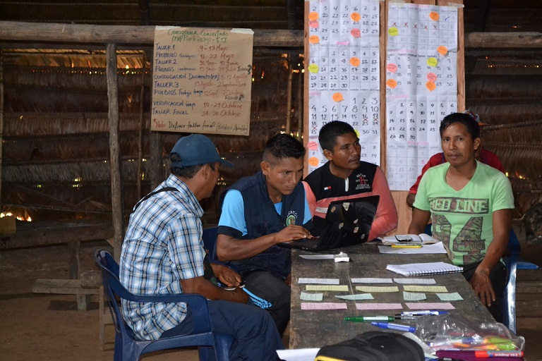 The second RIA process led by the Zonal Association of Traditional Authorities of the Chorrera (Azicatch) is being developed in La Chorrera. Photo courtesy of WWF Colombia