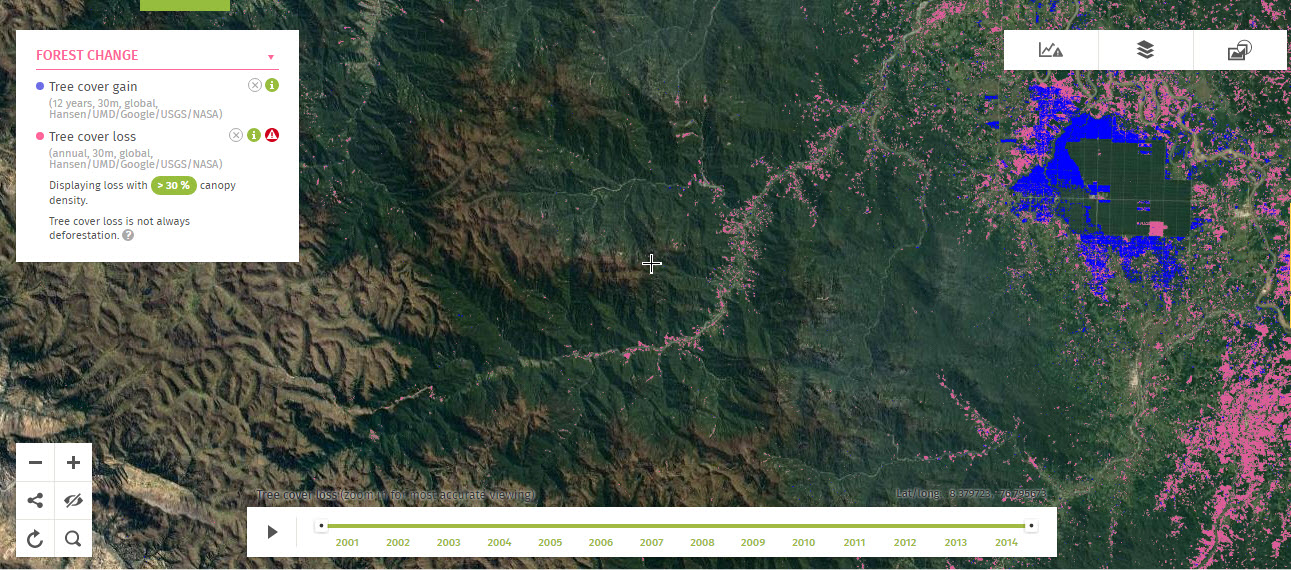 Free online analysis of forest change