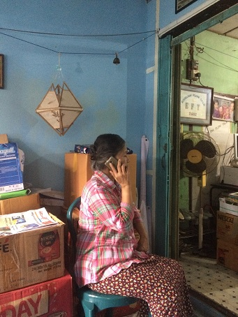 Devi Than Cin in her home in Myanmar recently. Photo by Jennifer Rigby