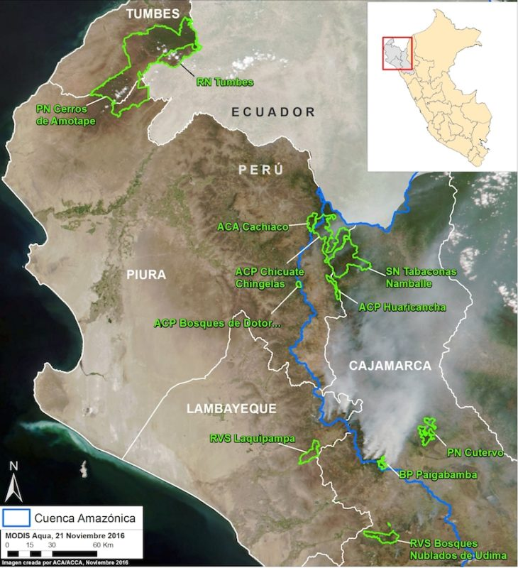 Image courtesy of MAAP -Data: MODIS/NASA, SERNANP, NCI