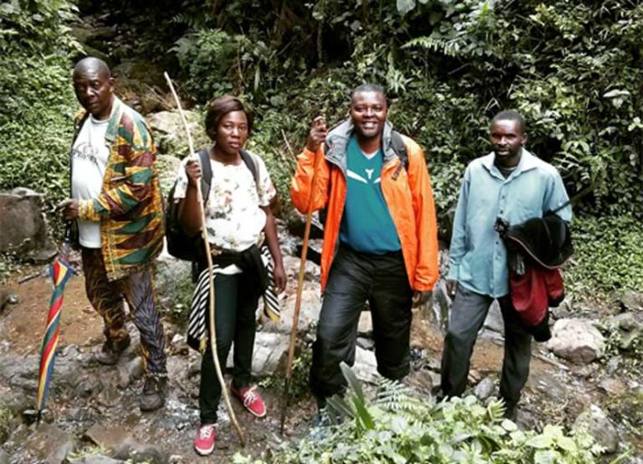 One of the criteria to apply for community forestland tenure is creating a map of the forest. This past October 2016 the Congolese NGO Strong Roots worked alongside traditional leaders and community members to map the boundaries of their forest. The next step will be to train community members to monitor wildlife (gorillas, birds and amphibians), as well as vegetation, and to create and implement a community conservation plan. Photo by Sarah Tolbert