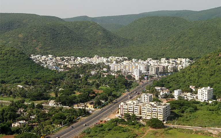 The Eastern Ghats, including the Mobile Belt geological region, are threatened by human development. Here National Highway 16 runs through Visakhapatnam in Andhra Pradesh. Photo by Adityamadhav83 licensed under the Creative Commons Attribution-Share Alike 4.0 International license
