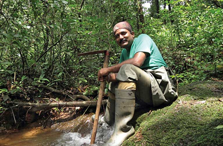 Dr Varad Giri was awarded a Wildlife Service Award for his commitment to effective conservation strategies for India's less famous creatures. Photo courtesy of Varad Giri