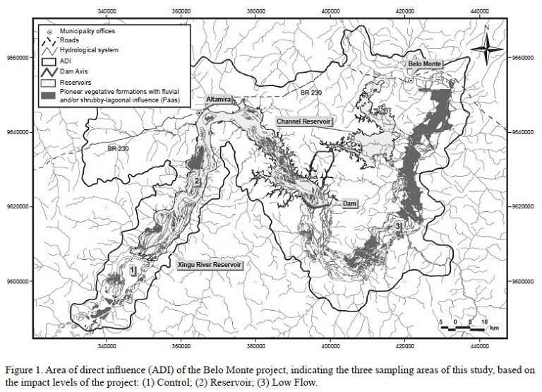 Impact area of the Belo Monte Dam. Map by Denise de Andrade Cunha and Leandro Valle Ferreira/Brazilian Journal of Botany