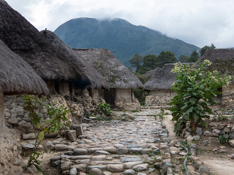 An Arhuaco village in the heart of the Colombian rainforest. Photo by Bram Ebus for Mongabay.
