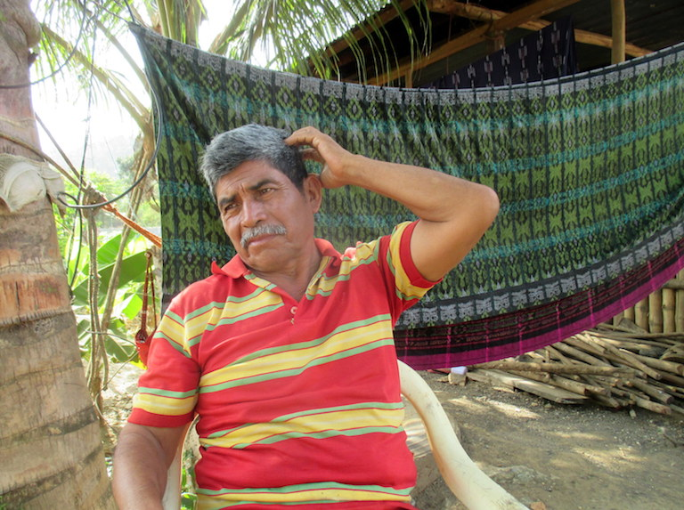 Goldman Environmental Prize winner Rodrigo Tot recalls the 2012 shooting that killed one of his sons and wounded another. Photo by Sandra Cuffe for Mongabay.