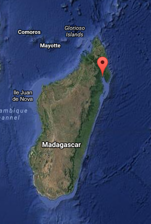 Maroantsetra, Madagascar. Map courtesy of Google Maps.
