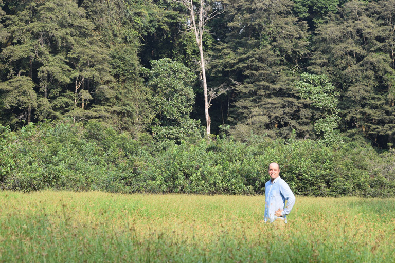 The author inside a conservation area near Olam's plantations in Mouila, Gabon. Courtesy of Mighty