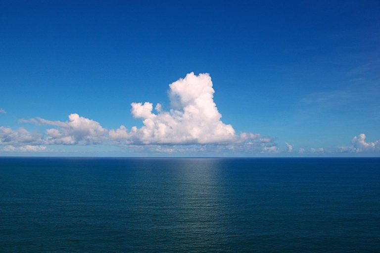 Clouds over the Atlantic Ocean. Photo via Wikimedia Commons (CC BY-SA 3.0).