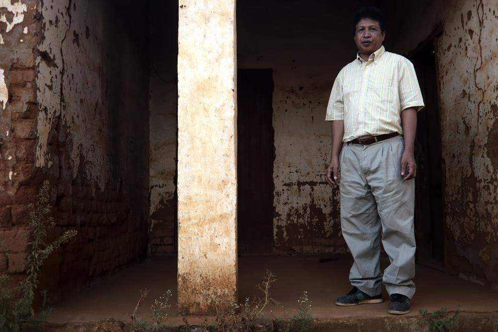 Dalal, président d'une association de mineurs dans les mines informelles d'Andilamena. Photo par Arnaud De Grave / Agence Le Pictorium.