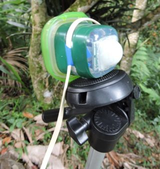 "The two PIR sensor units they are light enough to attach to low-cost ""gorillapods"" that wrap to branches and stems or to a standard tripod mounting plate."
