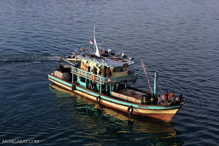 Bote pesquero en Malasia. Foto: Rhett A. Butler / Mongabay