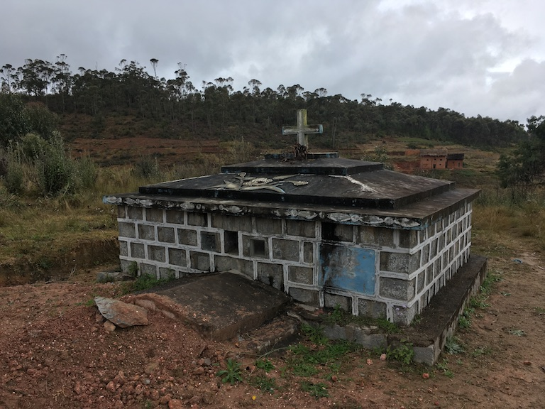 Elysé Arsène Ratsimbazafy, the local mayor, was murdered in June and buried in a family tomb near his home in of Ambalakindresy. Photo by Rowan Moore Gerety for Mongabay.