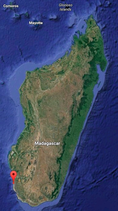 Map shows the location of Beheloke, Madagascar. Map courtesy of Google Maps.