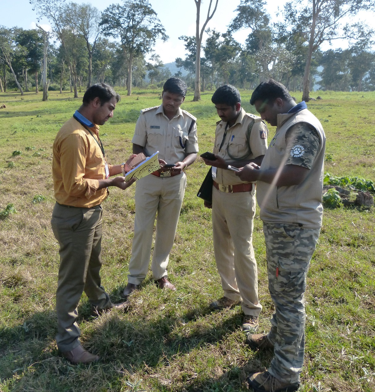 Forest officials conduct a training exercise in M-STrIPES.