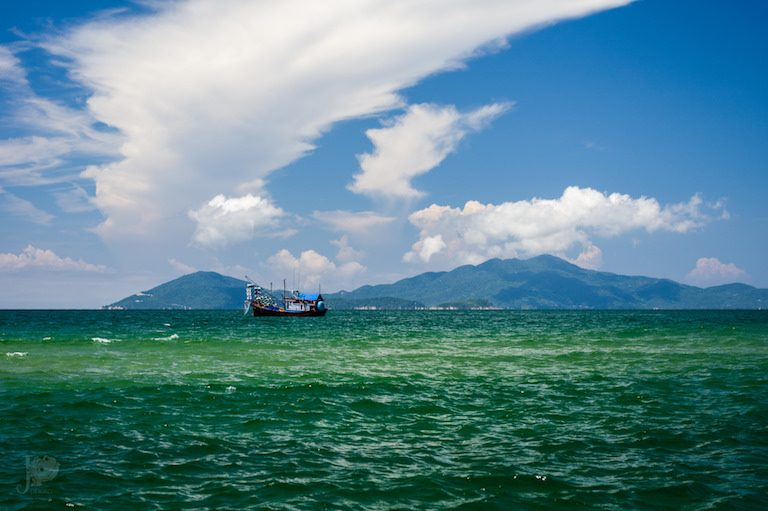 A Vietnamese fishing boat on the South China Sea. Photo by Jean-Pierre Bluteau via Flickr (CC BY-NC 2.0).