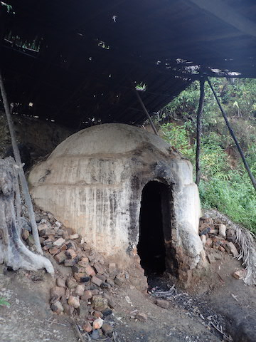 A village charcoal kiln in Myeik. Photo by Mark Grindley/FFI.
