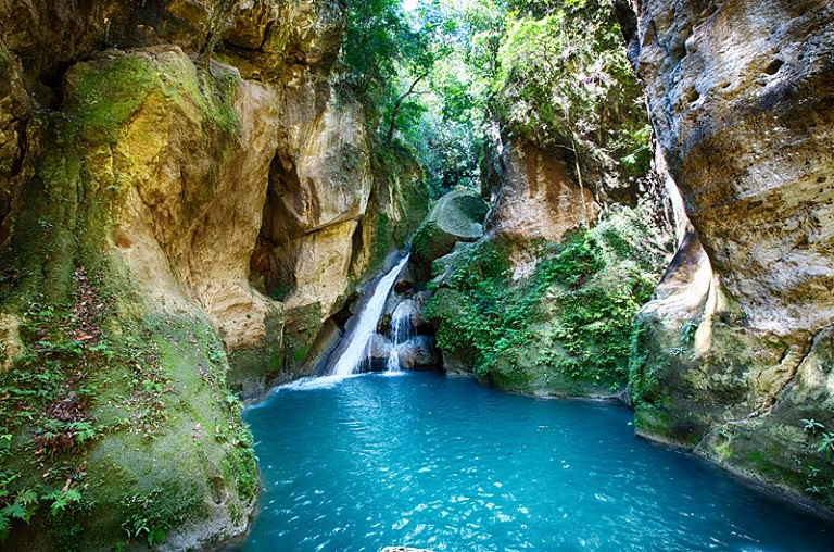 Bassin Bleu near Jacmel. Photo courtesy of ExperienceHaiti.org.