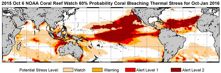 The 2015 ocean warming event (NOAA)