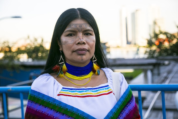 Patricia Gualinga was threatened with death at her house in Puyo, in the Ecuadorian Amazon, after a man broke a window. Photo courtesy of Amazon Watch/Caroline Bennett.