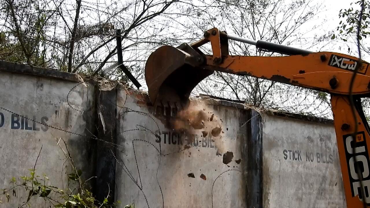 Demolition Of The Wall Photo Courtesy Samarjit Sharma Rohit Choudhury