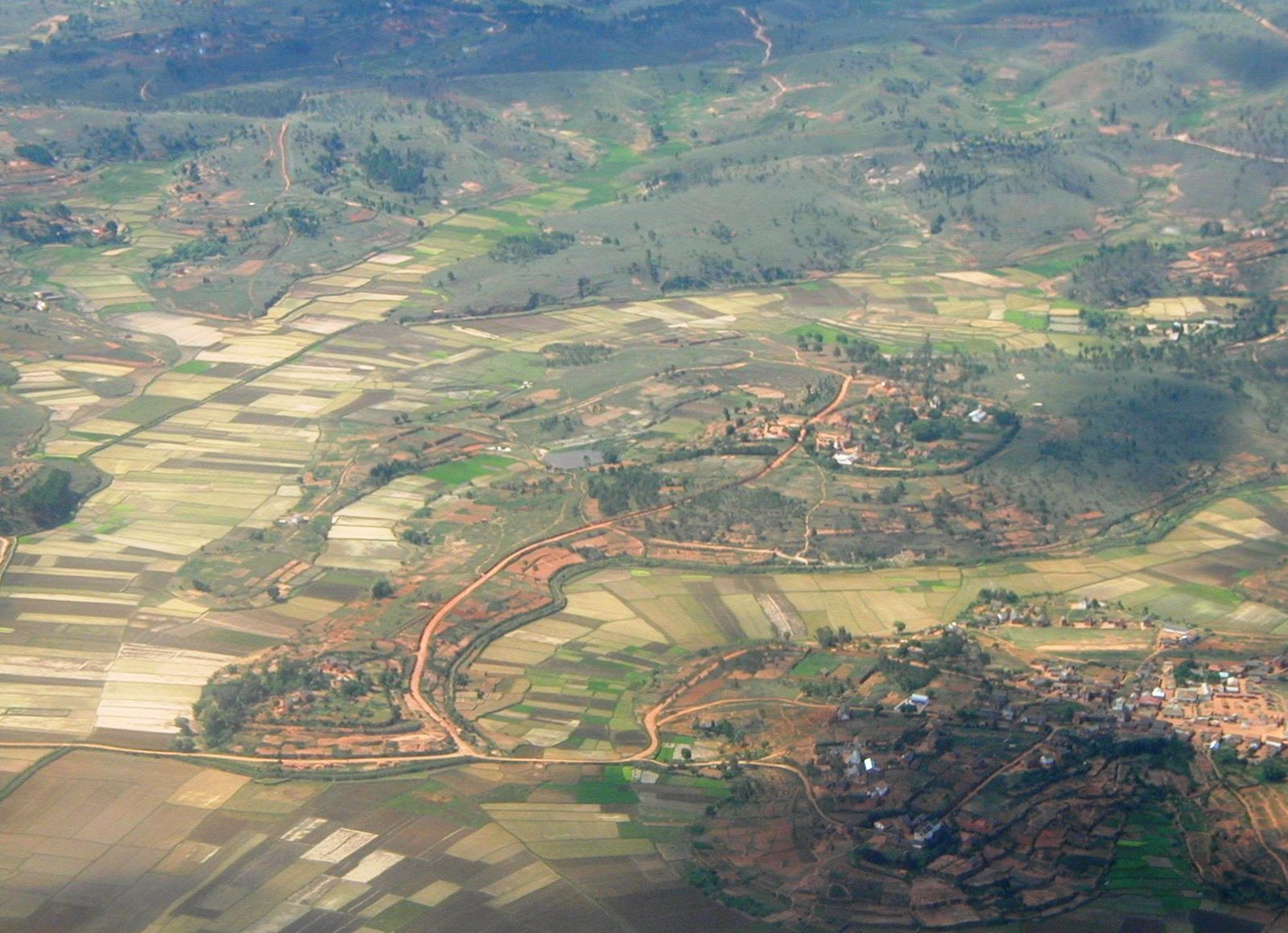 Regions with high employment in agriculture, such as here in Madagascar, rely on seasonal rainfall, land tenure, and access to markets. Spatially overlaying distributions of these different features can help researchers and decision-makers understand potential threats to agricultural communities over broad scales.