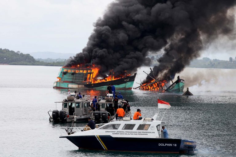 Indonesia's new fisheries minister may go easy on trawl nets poachers' boats