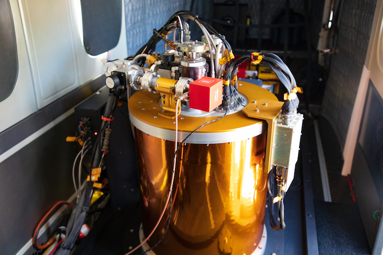 Imaging spectrometer, an instrument used for mapping corals aboard the Carnegie Airborne Observatory. Image by Marjo Aho/TNC.
