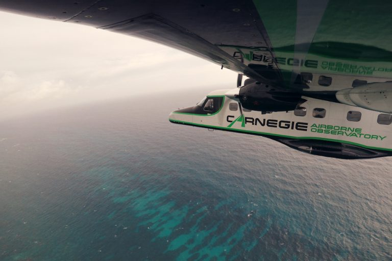 The Carnegie Airborne Observatory off the coast of the Dominican Republic. Image by Eddie Roqueta for Mongabay.
