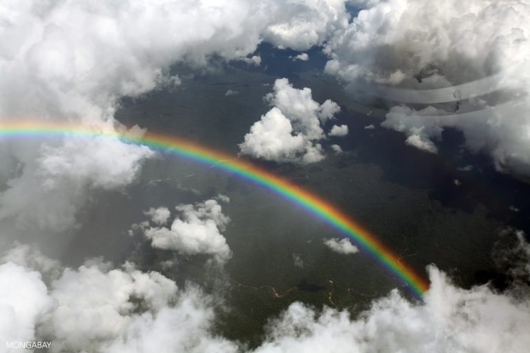 Rainbow over the Amazon rainforest. Photo by Rhett A. Butler for Mongabay.