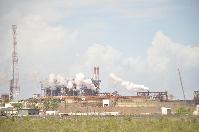 Ambatovy's processing plant in Toamasina. Image by Riana Raymonde Randrianarisoa for Mongabay.