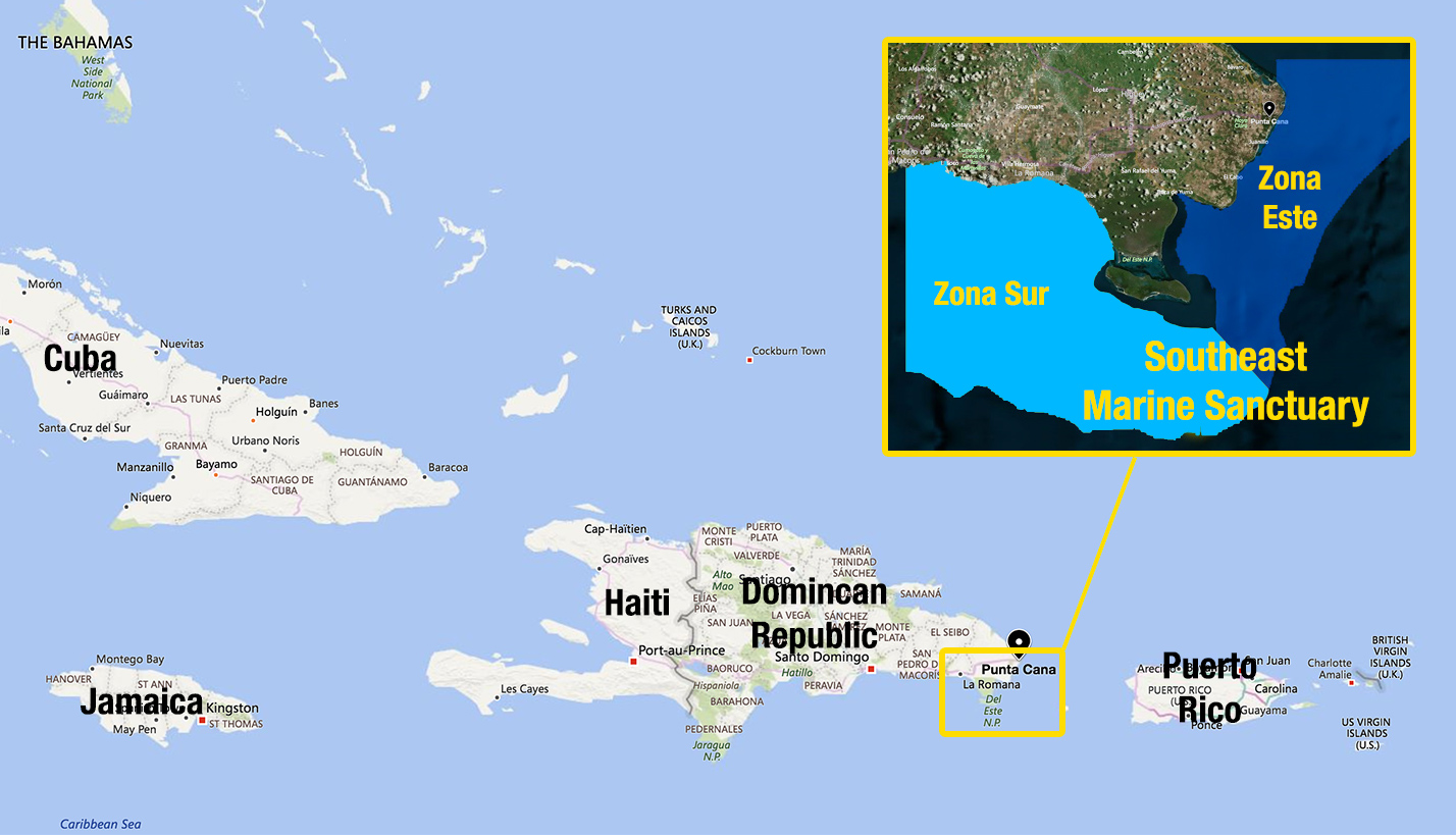Map-Dominican-Republic-Southeast-Marine-Sanctuary Dominican Map on