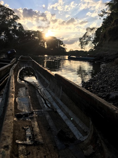 Dawn on the Tuira River, near the Embera village of Sobiaquiru Panama, a few miles from the border with Colombia. Image courtesy of the Rainforest Foundation.