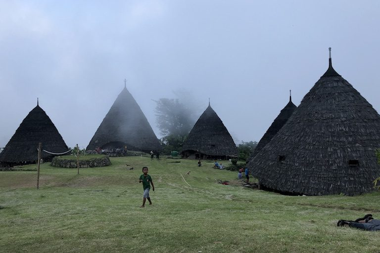 The village of Wae Rebo. Image by Sarah Hucal for Mongabay.