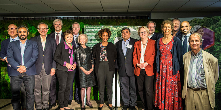 Representatives from the foundations who signed the commitment. Photo by Reny Preussker.