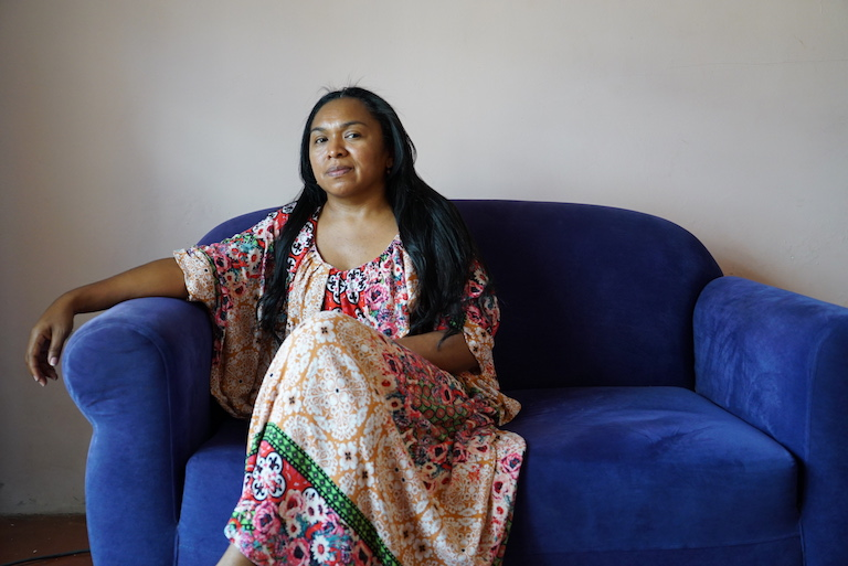 Jazmin Romero Epiayu is an indigenous Wayuu activist who has been fighting to raise awareness about her people's struggle with water scarcity. Image by Lucy Sherriff for Mongabay.