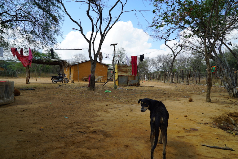 A view of the Wayuu community of Santa Rita Dos, where water is in short supply. Image by Lucy Sherriff for Mongabay.