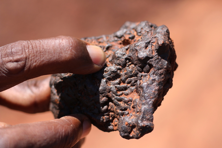 Iron ore mining is a major threat to the forest surrounding the kayas. Image by Sophie Mbugua for Mongabay.