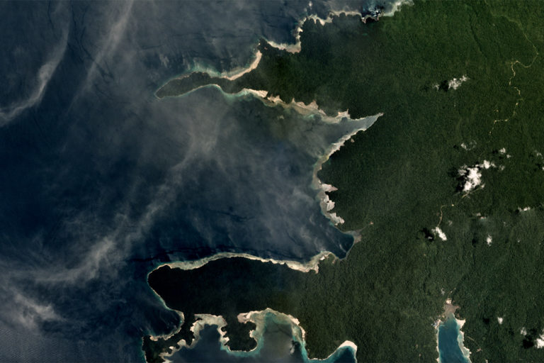 Planet satellite image of Sipatnanam, Fakfak Regency. Taken in September 2018. Courtesy of Planet.