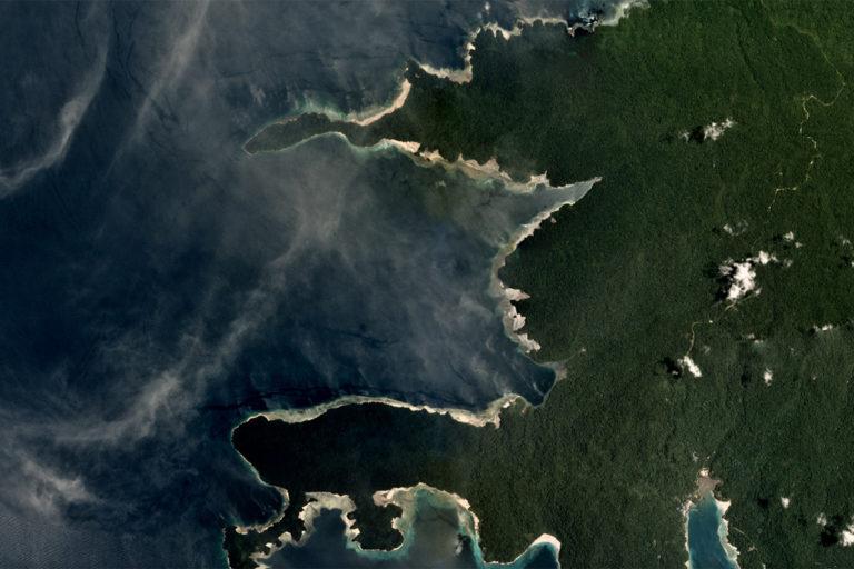 Planet satellite image of Sipatnanam, Fakfak Regency. Taken in September 2018. Courtesy of Planet.