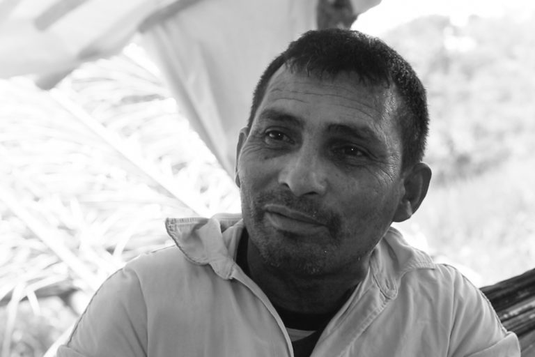 Aloisio Sampaio, a trade unionist known as Alenquer, the leader of the KM Mil landless peasant occupation. He was murdered on 11 October. Image by Thais Borges.
