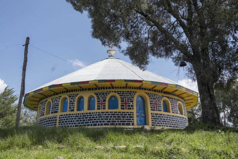 Perimeter of Debresena church near Debretabor, Ethiopia. Photo by Maheder Haileselassie Tadese for Mongabay.