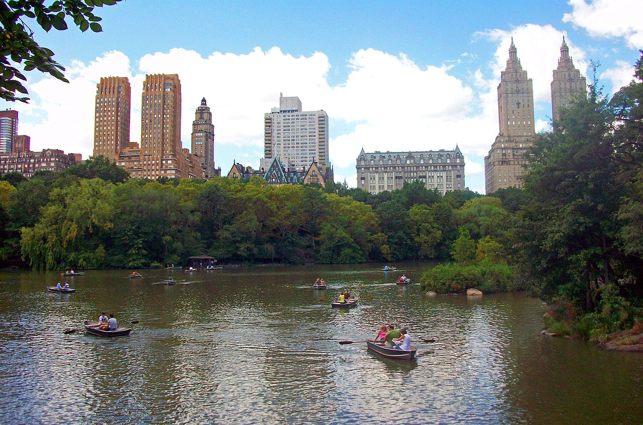 Visitors to Central Park in New York City enjoy the lake and views of historic properties of the Central Park West Historic District. The Central Park Conservancy asked hackers to develop a method to collect visitor data to help set funding priorities.