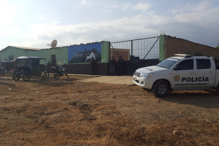 Police at the site of the October 2018 raid. Photo courtesy of the National Police of Peru.