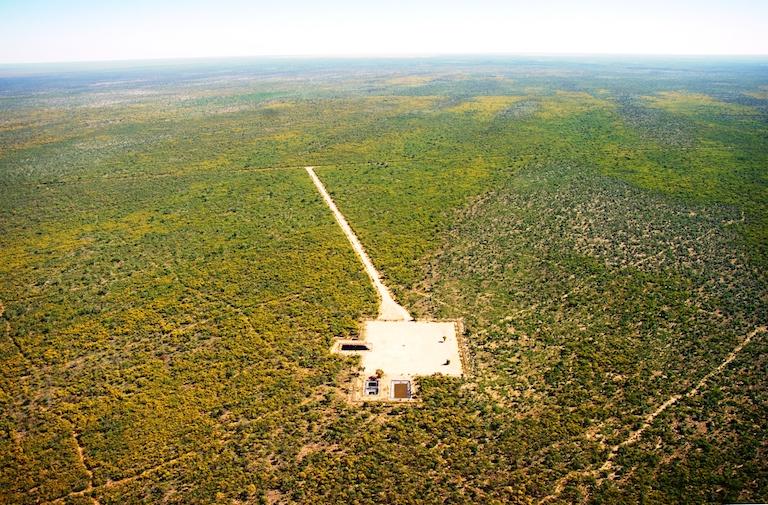 Buru Energy's Yulleroo 3 fracking well. Image courtesy of Environs Kimberley.